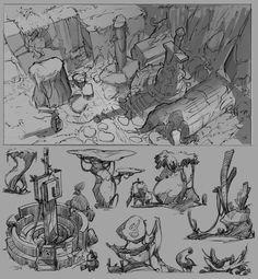 ArtStation - Week 44 -Fantasy development, Hue Teo