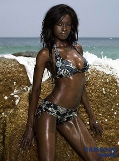 Black Women in Bikini - Joelle Kayembe - Beautiful Babes in Bikinis Galleries: Joelle Kayembe Ebony Beauty, Dark Beauty, Beauty Skin, Sexy Ebony Girls, Ebony Women, Brown Skin, Dark Skin, My Black Is Beautiful, Beautiful Women