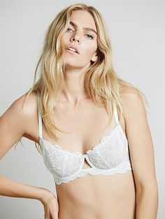 Daydreamer Underwire Bra | Sheer mesh underwire bra with embroidery detailing.  Crisscross straps in back.  Adjustable straps.