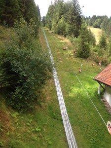 the Riesenrutschbahn Poppeltalin Enzklösterle-Poppeltal