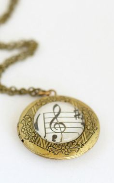 Music Necklace Music Locket Gift For Musician