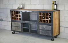 vintage bars | Custom Made Liquor Cabinet / Bar Vintage Industrial, Urban Modern ...