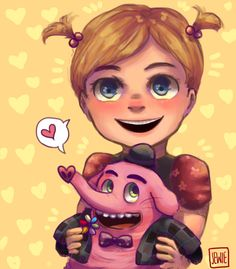 Baby Riley and Bing Bong (who made me shed many tears. I love Inside Out. More fanarts soon! Inside Out Dreamworks Studios, Disney And Dreamworks, Disney Pixar, Disney Characters, Inside Out Riley, Disney Inside Out, Baby Disney, Disney Art, Disney Princess