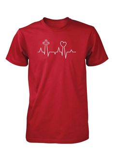 Men's Lifeline Love Heart Cross Jesus Valentine's Day Christian Tshirt (http://www.aprojes.com/mens-lifeline-love-heart-cross-jesus-valentines-day-christian-tshirt/) #valentinesday #valentines #couples