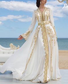 Moroccan Haute Couture Caftan 2018 - Spring Catalog - Moroccan Luxury Caftan Boutique Ca. Kaftan Moroccan, Morrocan Dress, Moroccan Bride, Morrocan Wedding Dress, Abaya Style, Abaya Fashion, Fashion Dresses, Couture Dresses, Muslim Fashion