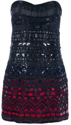 ROBERTO CAVALLI Strapless Sequin Dress - Lyst