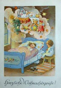 Elfriede Türr - Vintage Christmas Card
