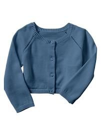 Colored pointelle sweater