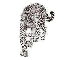 This item is not available - Leopard Silhouette SVG Graphics Illustration Vector Logo Mini Tattoos, Small Tattoos, Cool Tattoos, Cheetah Tattoo, Jaguar Tattoo, Beautiful Tattoos, Graphic Illustration, Vector Art, Tattoo Designs