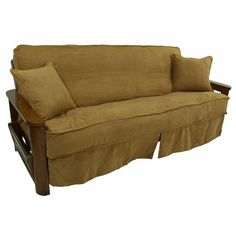 Give Your Futon A Unique New Look With This Skirted Slipcover Available In Diffe