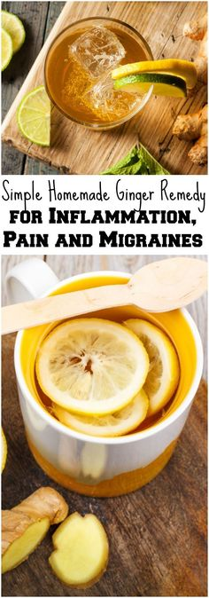 Simple Homemade Ginger Remedy for Inflammation, Pain and Migraines #HomeRemediesforHeadaches #DiabetesCureSimple