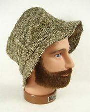 VTG LL Bean Donegal Tweed Wool Ireland Irish Walking Bucket Hat Fesora Sz  7.5 79db0a81921