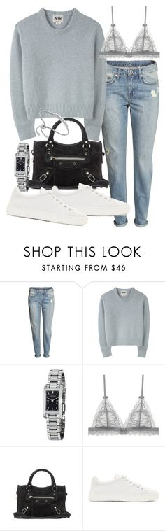 """""""Untitled #19238"""" by florencia95 ❤ liked on Polyvore featuring H&M, Lauren Ralph Lauren, Burberry, Balenciaga, rag & bone and Monica Vinader"""