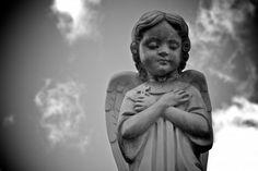 Child angel statue #angels