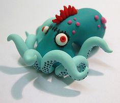 Todo lo que necesitas para tus manualidades está en mitiendadearte.com Pulpo. clay octopus |