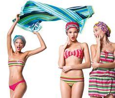 Preciosa colección de trajes de baño de Benetton, http://www.mujerdemoda.net/2012/05/trajes-de-bano-benetton-verano-2012.html