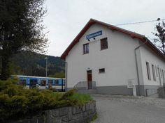 Železniční stanice Ostravice ve městě Ostravice