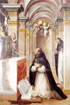 Visión de Santo Tomás de Aquino (Guglielmo Caccia, c1608, Bosco Marengo)
