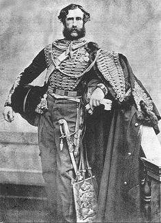 """victoriansword: """" """" John Douglas led the Hussars in the Charge of the Light Brigade. He survived without serious wound. He had been brought into the regiment by Lord Cardigan and as such, was one of Cardigan's supporters to the extent that he. British Army Uniform, British Uniforms, Men In Uniform, John Douglas, Crimean War, Silhouette, Military History, Armed Forces, Napoleon"""