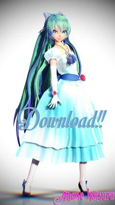 MMD TDA:Download Princess Miku!! by AmaneHatsura.deviantart.com on @DeviantArt