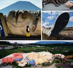 "Gulliver's Kingdom Theme Park, built in the shadow of Japan's Mount Fuji- empty since 1997. Potentially abandoned because it's near Aokigahara forest, or as some call it, ""suicide forest""."