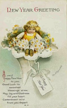 Cute and Beautiful Vintage New Year's Postcards