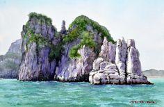 해금강 53.0 x 40.9cm watercolor dn ppaper watercolor by Jung in sung