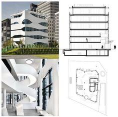 TECTURA+ARQUI = ARQUITECTURA: Otto Bock Science Center Medical Technology ( Berlín) Mall Facade, Medical Technology, Architecture Plan, Ideas Para, Berlin, Condo, Floor Plans, Science, Interior Design