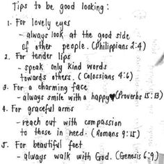 Tips to be good looking...