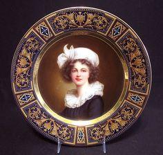 Royal Vienna Austria Porcelain Hand Painted Portrait Plate Artist Signed C 1900 The Portrait is a Detail from a   Famous Self Portrait of Louise Elisabeth Vigee Le Brun   eBay