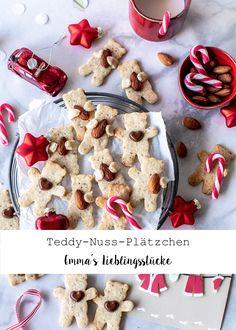 Rezept für Teddy Plätzchen mit Haselnuss backen Weihnachten Advent Bear Cookies Christmas #christmas #plätzchen #weihnachten #backen Emma´s Lieblingsstücke Merry Little Christmas, Foodblogger, Advent, Create Yourself, Smoothies, Sweets, Sugar, Cookies, Desserts