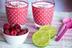 Bringebær- og limesmoothie | Det søte liv