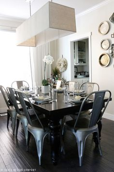 that table! (esp.the stain color) (chairs are good too) fall house tour 2015