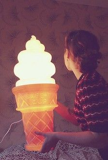 Ice Cream Cone Lamp if you get me this for my birthday i would love you forever