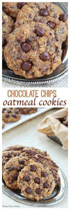 Soft and chewy with slightly crisp edges, these chocolate chip oatmeal cookies are full of flavor and packed with chocolate goodness in every…