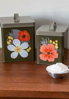 Could totally just paint old tins that I've saved Ohh La LA!  Age of Primrose Container Set