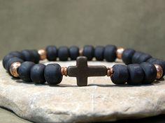 Hey, I found this really awesome Etsy listing at https://www.etsy.com/listing/99460049/mens-bracelet-cross-bracelet-beaded