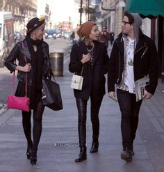Alexa Chung, Pixie Geldof And Nick Grimshaw Out And About In London