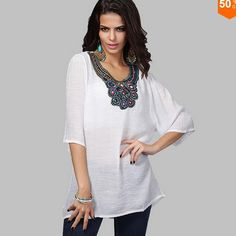 26b2d2cc8672 plus size women clothing shirt Embroidery Blouses 2017 New Summer tops  Europe style vintage White chemise femme Blusa feminine