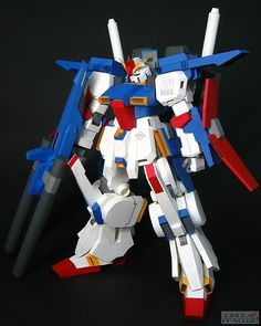 MSZ-010 ZZ Gundam Gundam Papercraft, Toy Story Crafts, Paper Models, Paper Crafts, Toys, Awesome, Activity Toys, Tissue Paper Crafts, Paper Craft Work