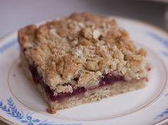 Raspberry Crumble Bars from FoodNetwork.com