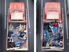 Overhead Shots of Car Poolers in Mexico - My Modern Met