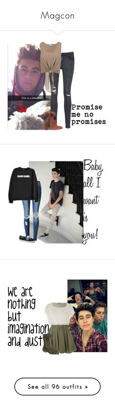 """Magcon"" by aliciastylinson ❤ liked on Polyvore featuring Frame, Strategia, Alice + Olivia, WithChic, Keds, Jolie Moi, Vans, Chicnova Fashion, Miss Selfridge and Converse"