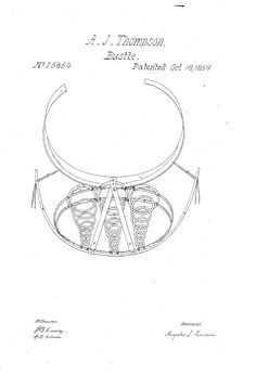 1859 Bustle  Patent US 25854 - BUSTLE - Google Patents  Springs