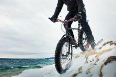 Fat Bike in Snow Action Sports Photography Toronto Commercial Photographer JP Danko blurMEDIA #fatbike #bicycle
