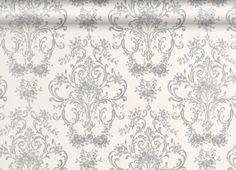 Aston Silver Patterned Wallpaper