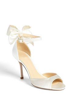 Bridal bow heels by kate spade