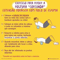 Exercício simples com vassoura que ajusta a postura Physical Fitness, Yoga Fitness, Health Fitness, Get Healthy, Healthy Life, Survival Tips, Pilates, Personal Trainer, How To Lose Weight Fast