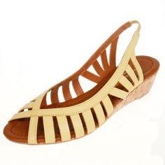 La Garconne | www.onyva.ch Elegant, Wedges, Shoes, Fashion, Yellow, Classy, Moda, Shoes Outlet, Fashion Styles