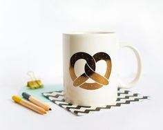 Golden Pretzel Mug